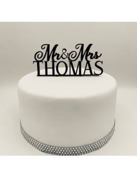 Cake Topper personnalisable Mr & Mrs