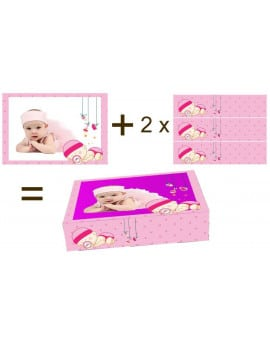 Kit deco de gateau bebe fille