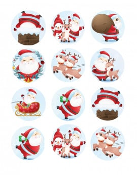 12-decorations-noel-en-sucre-rondes-5-cm