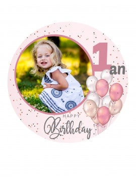 Photo comestible 1 an fille - 20 cm