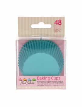 48 caissettes cupcakes turquoise standards