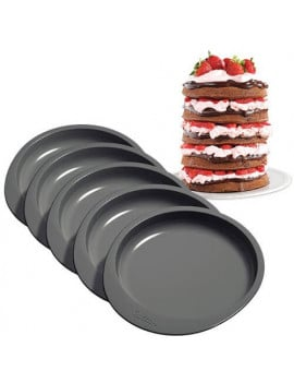 5 moules layer cake ronds Ø15 cm Wilton