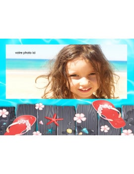 Photo comestible A4 plage