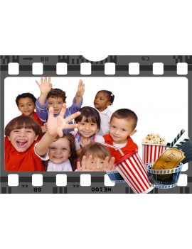 Photo comestible A4 cinéma pop corn