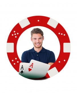 Photo comestible ronde poker