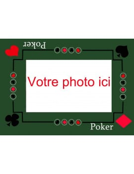 Photo comestible A4 poker