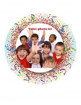 Photo comestible confettis