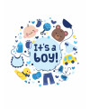Disque-en-sucre-It's-a-boy-20-cm
