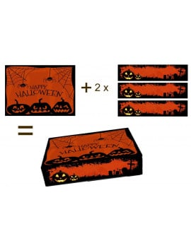 Kit deco de gateau A4 Halloween