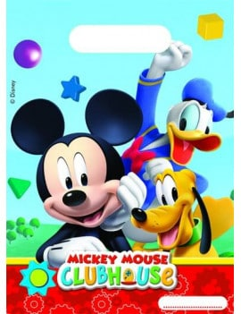 6 sachets plastiques mickey
