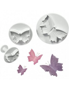 3 emporte-pieces papillons