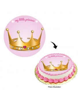 Disque en sucre little princesse