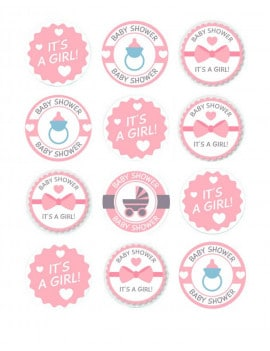 12-Mini-disques-en-sucre-baby-shower-girl-5-cm