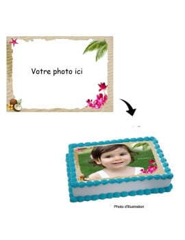 Photo comestible A4 sable