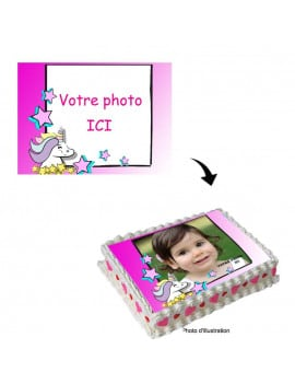 Photo comestible A4 licorne