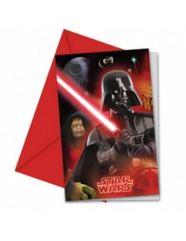 6 cartes d'invitation Star Wars