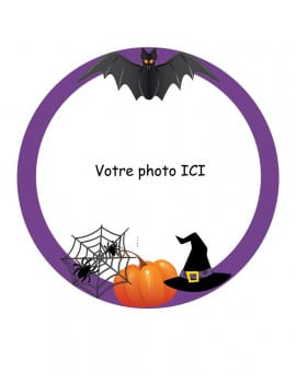 Photo comestible ronde Ø 20 cm Halloween