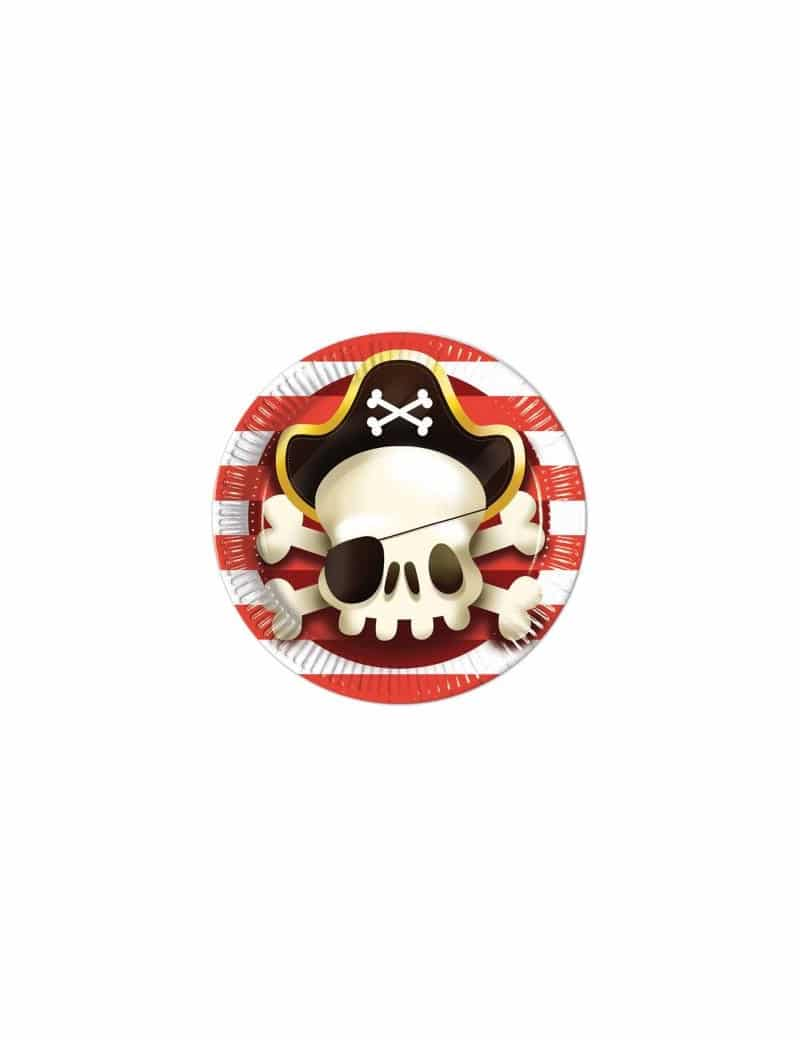 8 Assiettes Pirates Ø 23 cm