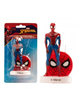 Bougie spiderman 3D - 9 cm