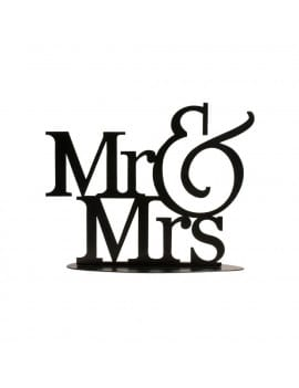 Cake Topper Mr & Mrs 22 x 18 cm