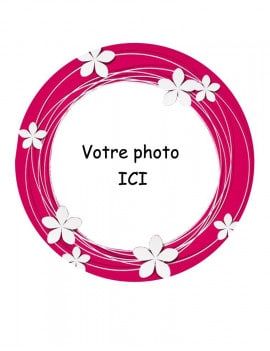 Photo comestible fleuri ronde
