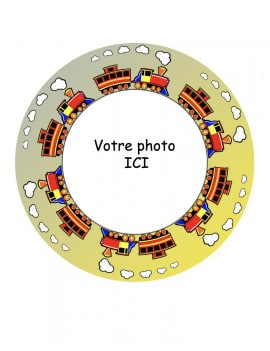 Photo comestible ronde Ø 20 cm petit train