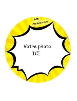 Photo comestible BD ronde