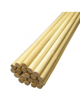 12 Dowels bois - tiges de maintien