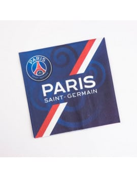 20 serviettes PSG football 33x33 cm