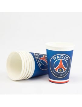 6 gobelets PSG football
