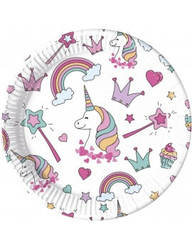 8-assiettes-licorne-23-cm-magic-party
