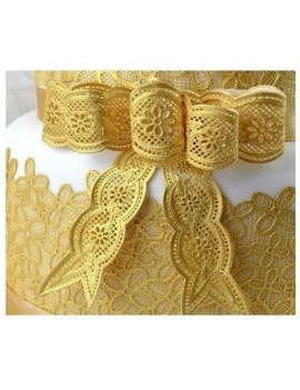 Tapis dentelle noeuds Vintage - Cake Lace by Claire Bowman