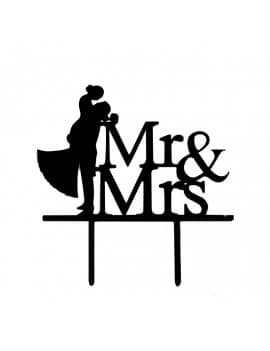 "Topper ""Mr & Mrs"" pour gateau"