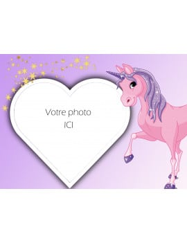 Photo comestible Licorne A4