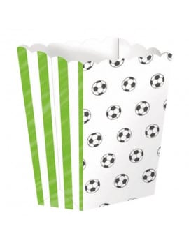 4 boîtes a Pop corn football