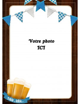 Photo comestible A4 - Motif bière