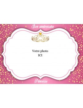 Photo comestible princesse A4