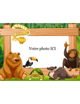 photo-comestible-animaux-de-la-jungle-a4-