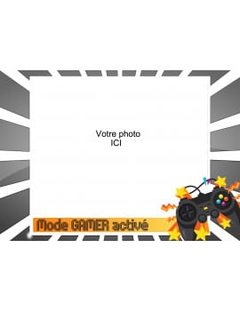 Photo comestible A4 Gamer