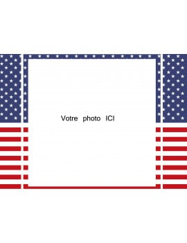 Photo comestible USA - 21 x 29 cm