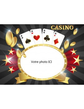Photo comestible Casino - A4