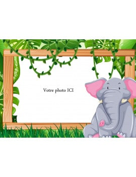 Photo comestible Elephant A4