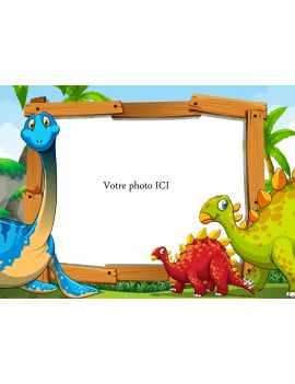 Photo comestible dinosaure A4