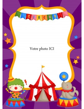 Photo comestible cirque - A4