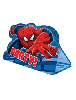 8 cartes d'invitations Spiderman