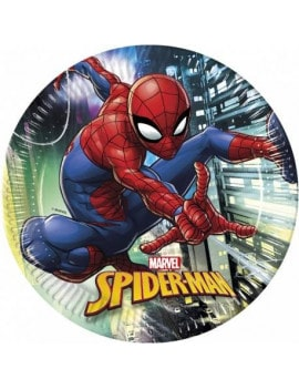 8 assiettes spiderman Team up