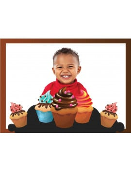 Photo comestible cupcakes - chocolat