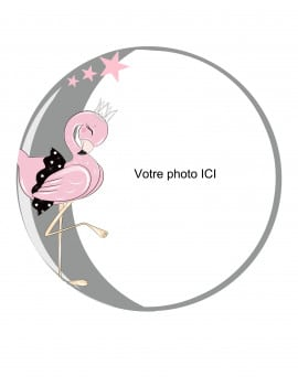 Photo comestible Flamant 20 cm