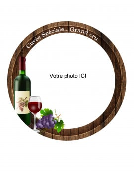 Photo comestible 20 cm - modèle amateur de vin