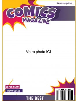Photo comestible couverture de magazine A4